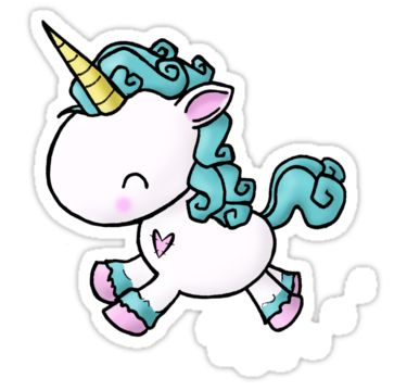 Prancing unicorn sticker by bianca loran