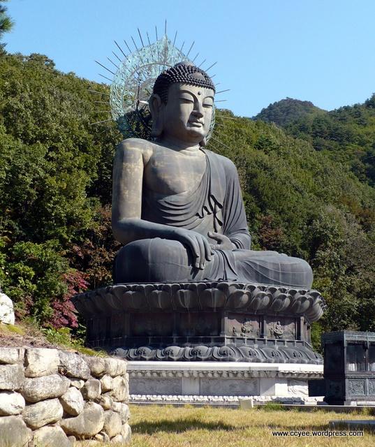 Giant Buddha statue at Mount Sorak, South Korea