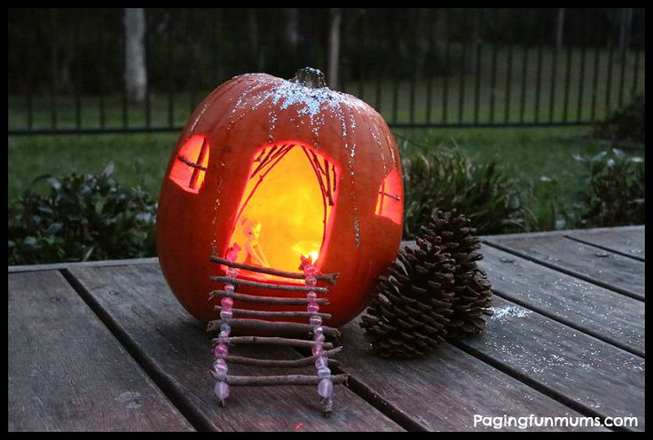 Fairy Pumpkin House - Perfect for Halloween!