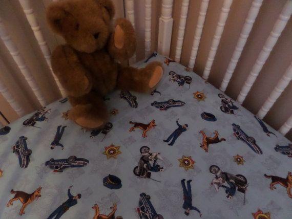 Police And German Shepard Dog Crib Or, Police Baby Bedding