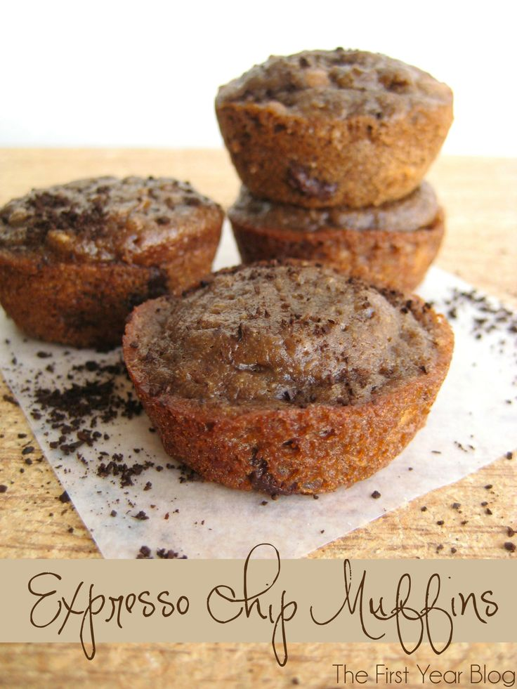 Expresso Chip Muffins with Oatmeal