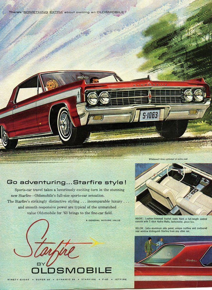 1210 best old ads cars trucks bikes images on pinterest poster 1963 oldsmobile starfire fandeluxe Images