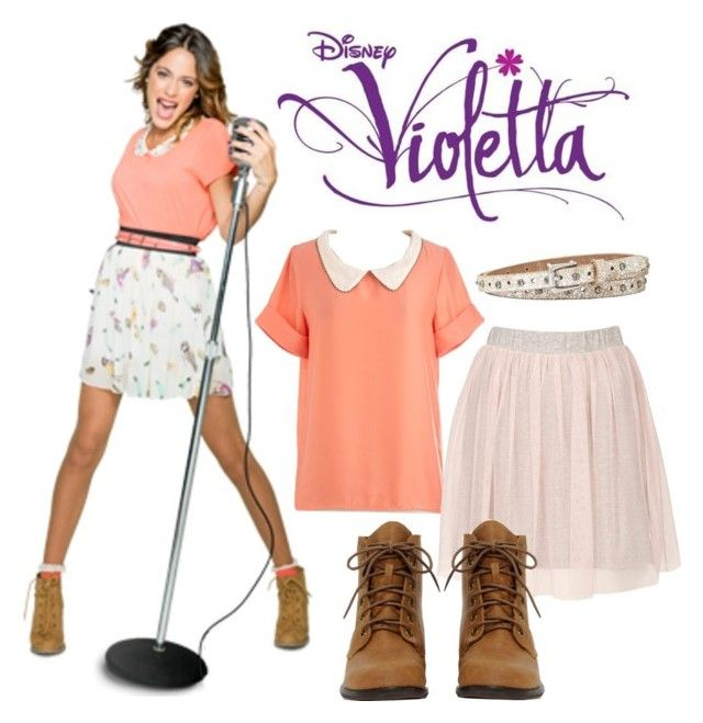 """Violetta ;-)"" by stylewiktoria ❤ liked on Polyvore featuring Disney, Topshop and FOSSIL"