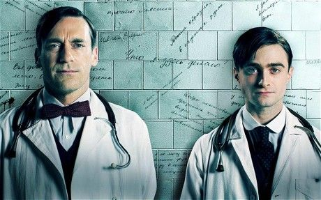 A Young Doctor's Notebook: first pictures of Jon Hamm and Daniel Radcliffe - Telegraph / The semi-autobiographical tales are taken from Bulgakov's own experiences working as a provincial doctor at the dawn of the Russian Revolution in 1917. Radcliffe plays the younger version of Russian medic Dr Vladimir Bomgard, who has comic exchanges with his older self, portrayed by Hamm.