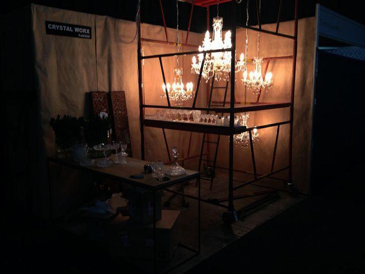 Chandeliers Lights On scaffolding