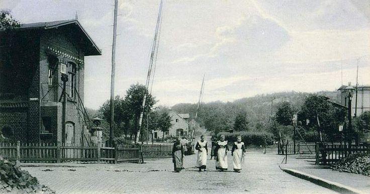 Bahnübergang Osnabrücker Straße - Um 1905 stadtmuseum-ibbenbueren.de