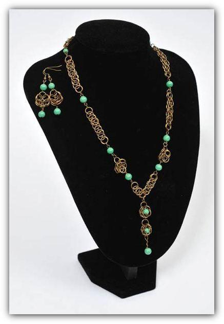 Ожерелье из колечек.