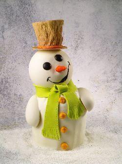 panettone decorato omino di neve Omar Busi