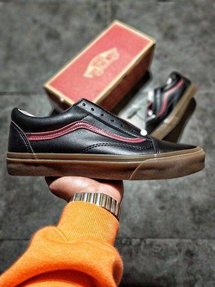 276d27616f23 Vans Classic Old Skool VN0A38G1OKTROB7 Black Dark Red Shoe amazon Recommend  Vans For Sale  Vans