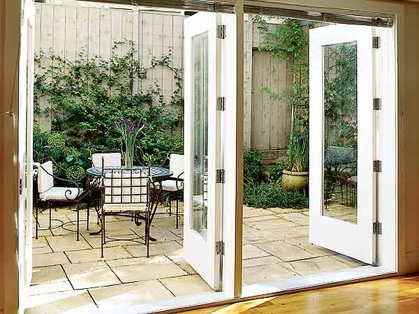 17 best images about patio on pinterest master bedrooms for Double opening patio doors