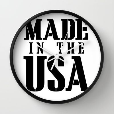 Made in the USA - black text Wall Clock by RQ Designs (Retro Quotes) - $30.00
