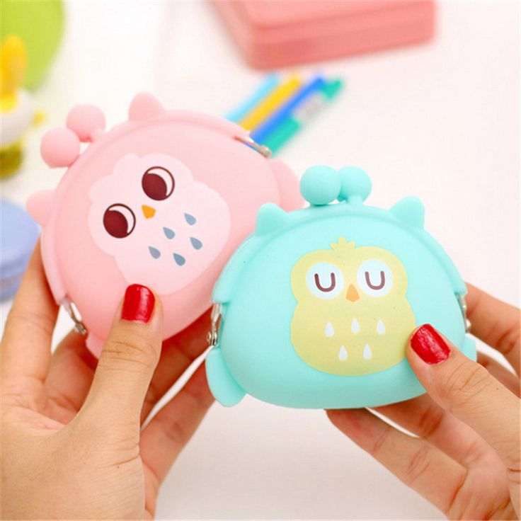 Kawaii Candy Owl Wallet Silicone Small Pouch Cute Coin Purse for Girl Key Rubber Wallet Children Mini Animal Case Storage Bag #clothing,#shoes,#jewelry,#women,#men,#hats,#watches,#belts,#fashion,#style