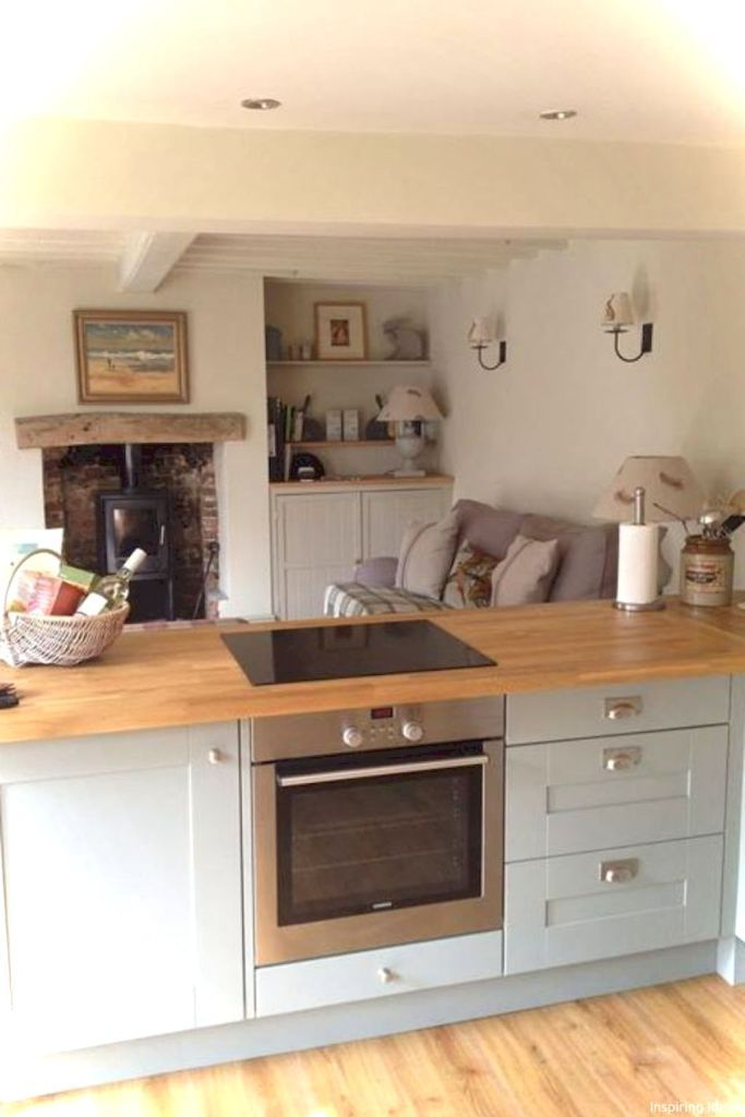 Lovelyving Architecture And Design Ideas Small Cottage Kitchen Living Room Kitchen Open Plan Kitchen Living Room