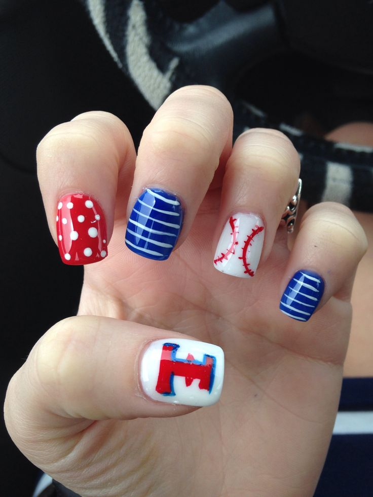 My Texas Rangers nails I got done
