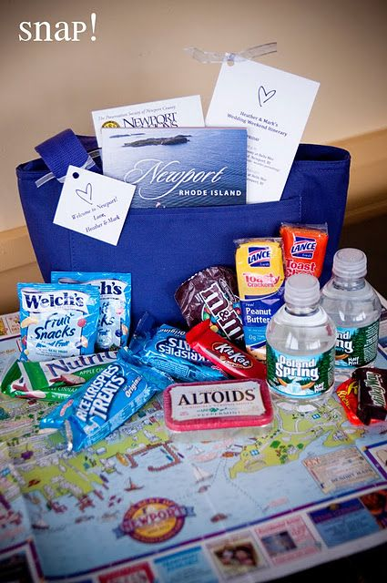 Hotel welcome bags for all guests (need to include some adult beverages though!)