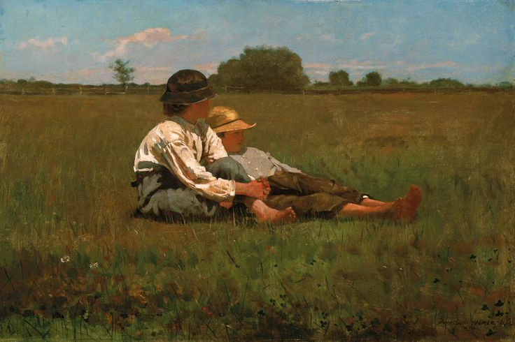 """Boys In a Pasture, 1874"" by Winslow Homer"