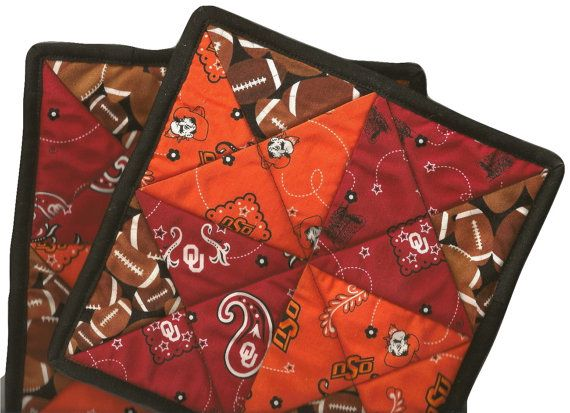 House Divided OU OSU Bedlam Potholder Set by gibsongirlgoodies, $19.99