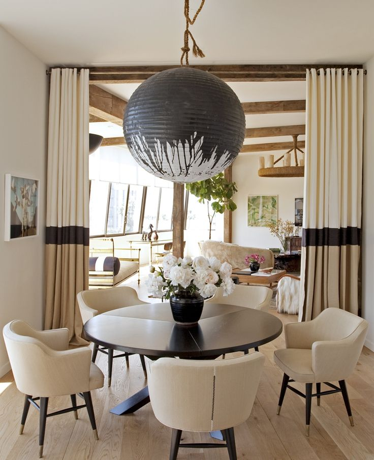 Airy Transitional Eclectic Dining Room By Trip Haenisch