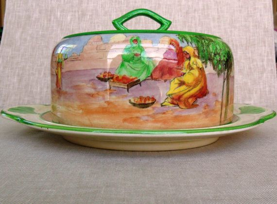 """Extremely RARE Collectors Item and Vintage by VtgDreamCollectibles, Etsy. Royal Doulton Seriesware """"Tunis"""" Cheese Keep"""
