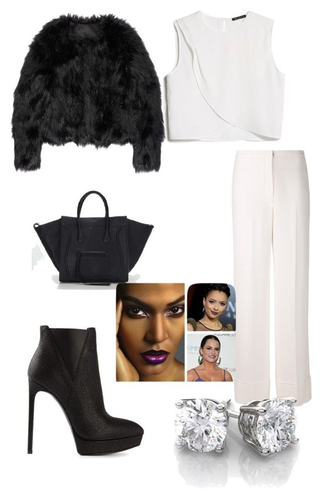 Birthday dinner outfit #2 by taniavd on Polyvore featuring polyvore, fashion, style, MANGO, Altuzarra, Duro Olowu, Yves Saint Laurent and clothing