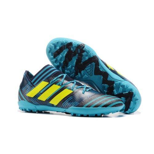 Nuovo Adidas Nemeziz 17-3 TF Scarpe da calcio Fluo Verde Nero