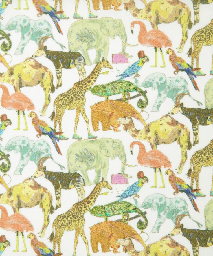 Children's author and illustrator, OK David, collaborated with the Liberty Design Team to create the Queue For The Zoo fabric design. Hand-drawn and painted exclusively for Liberty.  Shop Liberty Art Fabrics: http://www.liberty.co.uk/fcp/categorylist/dept/fabrics_new-season