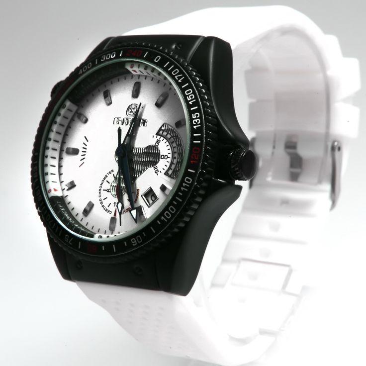 Ceas barbati Goer Black and White - Crystal Glamour  Tel: 0727 48 48 48; 0758 61 45 19