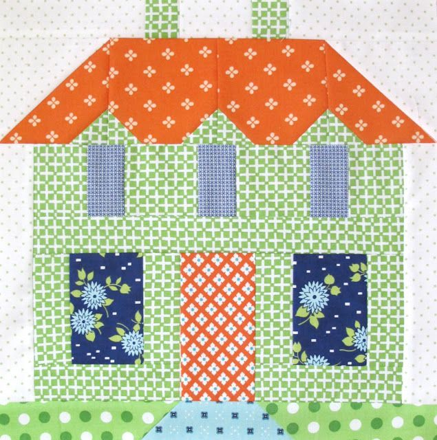 Bee In My Bonnet: My Home Sweet Home Quilt Block Pattern - In Quiltmakers…