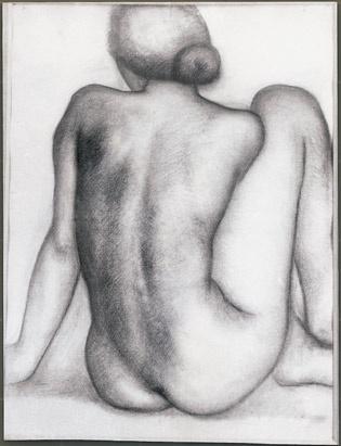 Kunsthal Rotterdam - Aristide Maillol  Le Dos de Thérèse (De Rug van Thérèse), 1929  Houtskool op papier  73 x 55 cm  Collectie Musée-Maillol, Parijs