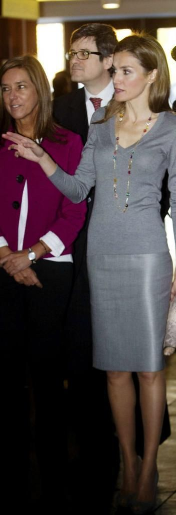 A la futura reina de España le gustan las faldas lápiz.
