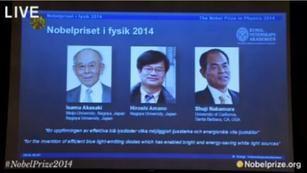 日本科学家获诺贝尔物理学奖