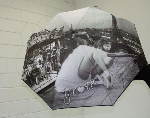 Ombrello antivento Y NOT automatico apri e chiudi stampa Parigi Linea Ballerina