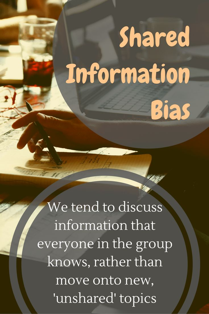 "How to understand human behaviour and cognitive biases, in this case ""the Shared Information Bias"" and improve your business pitch, sales and negotiation.  Using Behavioral Sciences to understand human behavior in business."