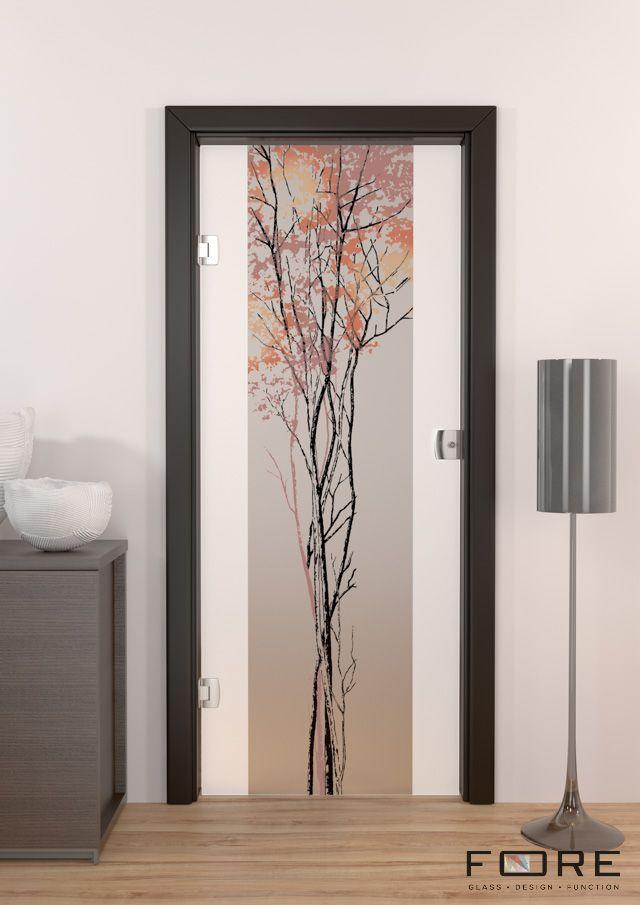 Drzwi szklane wahadłowe na ościeżnicy drewnianej, www.fore-glass.com, #drzwiszklane #drzwiwewnetrzne #szklane #glassdoor #glassdoors #interiordoor #glass #fore #foreglass #wnetrza #architektura