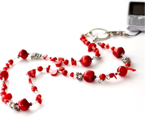 """""""Sierra Red"""" Coral and Jade Necklace by KÄNSLA of Sweden. Beautiful and Functional. kansla.se"""