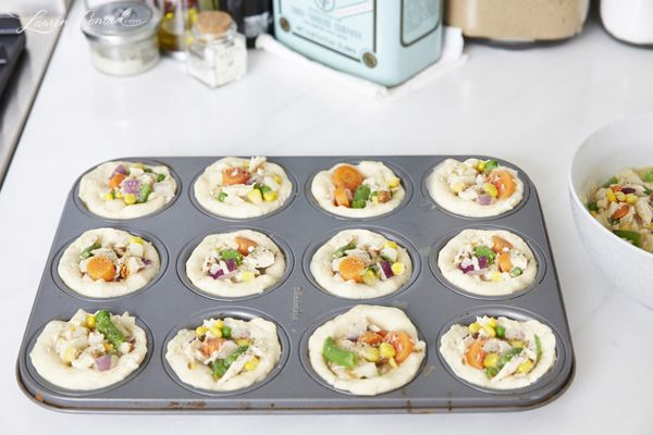 How to Make Lauren Conrad's Mini Chicken Pot Pies. Husband loves pot pies but they are so loaded with salt. Can't wait to try these!