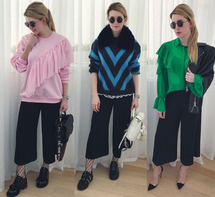 How to wear culottes. 1 вещь-3образа. С чем носить кюлоты