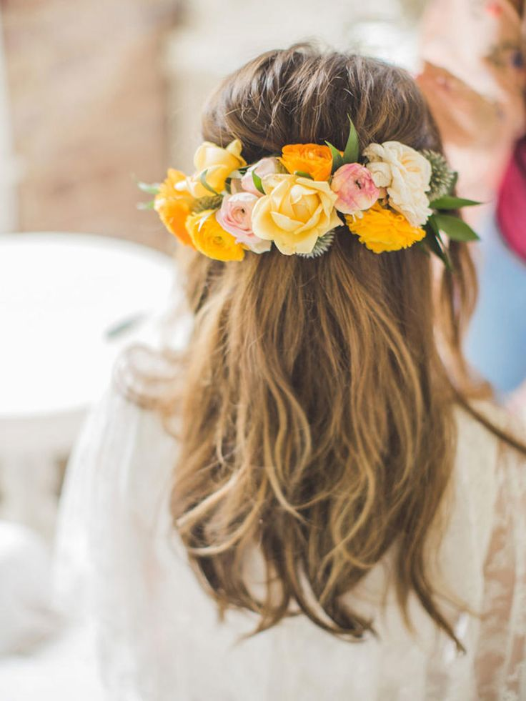 Bridal Hairstyle With Rose : 868 best images about bridal hair on pinterest