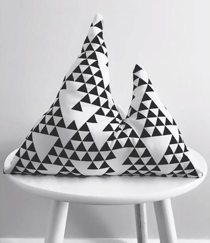 Geometric Mountain Pillow