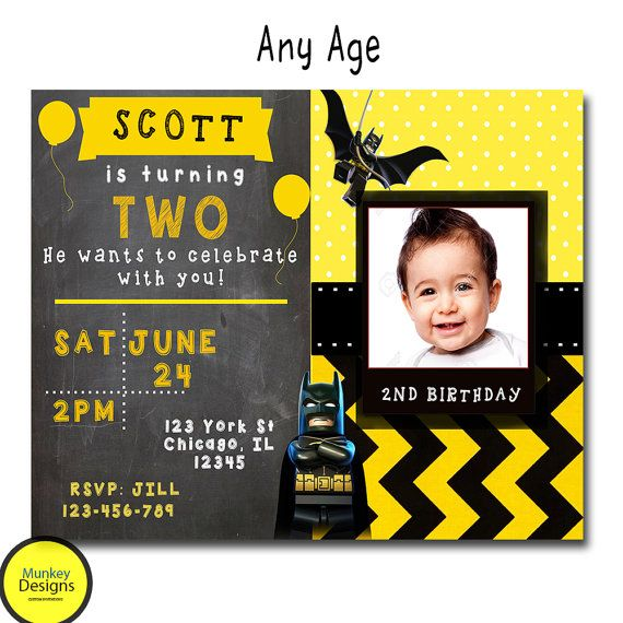 BATMAN BIRTHDAY INVITATION Superhero Birthday by MunkeyDesigns