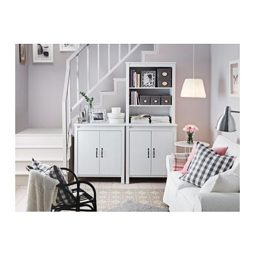 A couple of these by the carport door, plus shelves or hutch above - after we move the laundry stack :) BRUSALI Cabinet with doors - white - IKEA