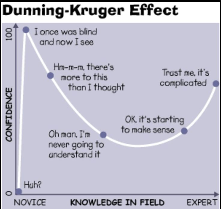 Image result for dunning kruger effect graph