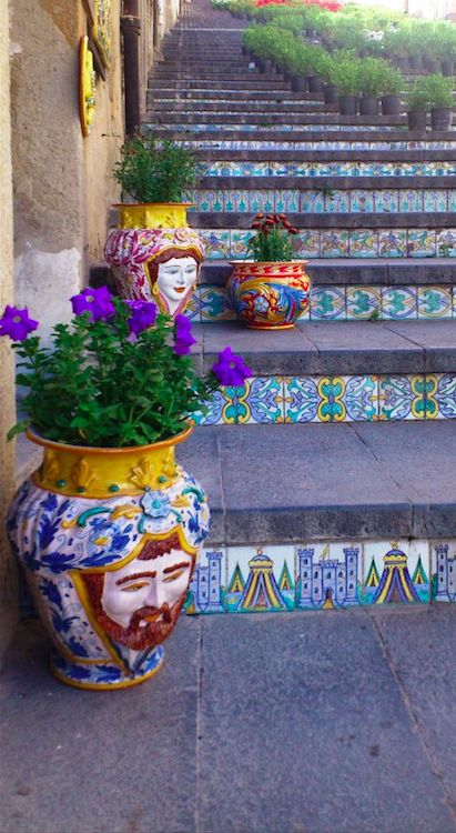 Scala di Santa Maria del Monte (142-step stairway) in Caltagirone, Sicily • photo: Adele Giglio on That's why Sicily