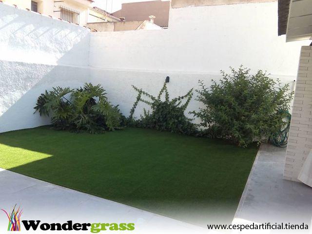 csped artificial para patios y jardines