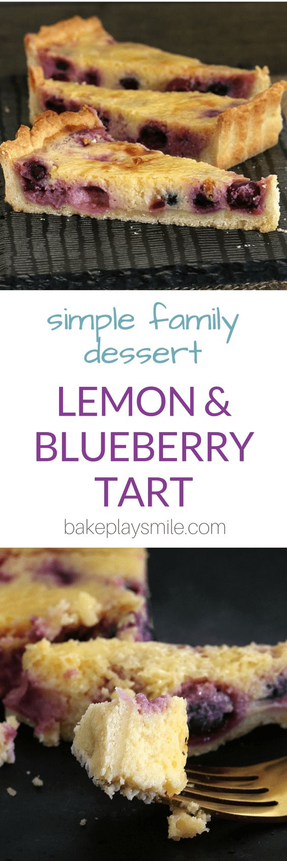 A classic Lemon Blueberry Tart! This is the most deliciously simple dessert... a total crowd-pleaser. Make your own pastry or use a store-bought version.