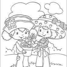 Strawberry Shortcake and her friend Orange Blossom - Coloring page - GIRL…