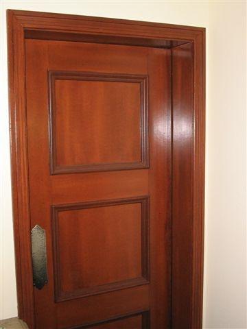 faux mahogany door