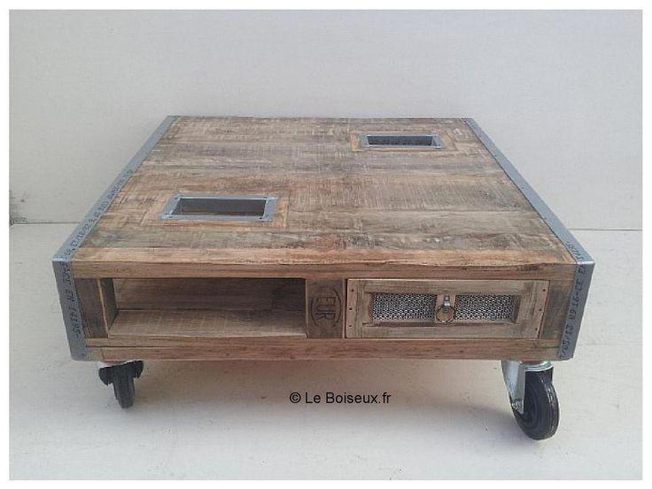 Les 25 meilleures id es concernant table basse avec tiroir for Table basse sur mesure