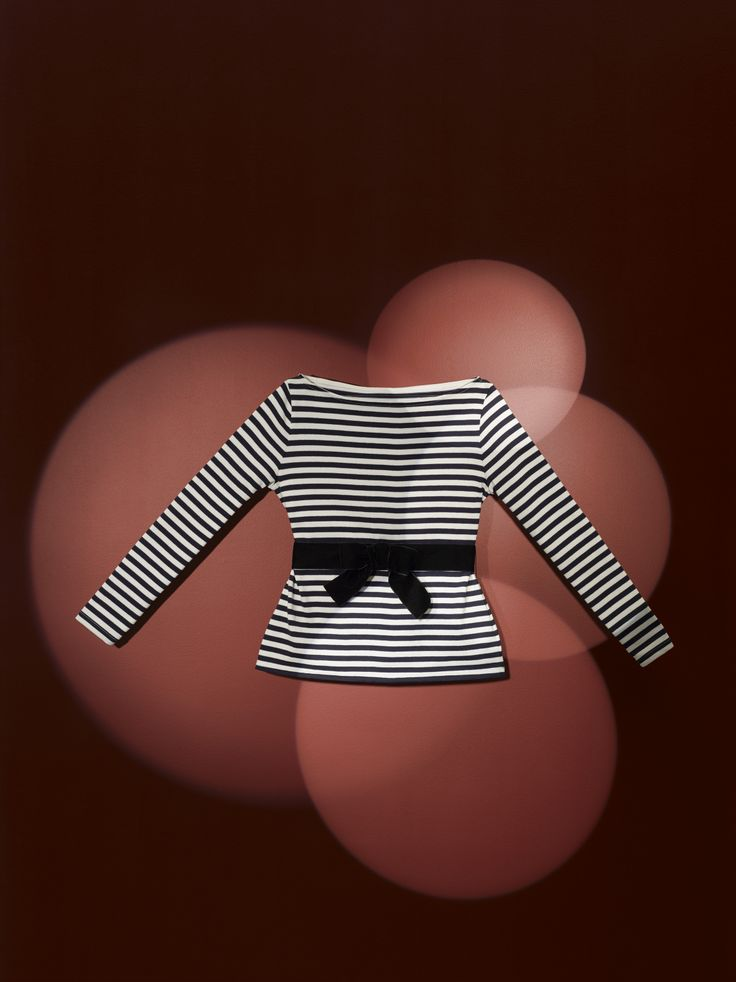 Women's heavy jersey breton top with matching stripes with its very feminine boat neck and a fitted waist with a detachable black velvet belt, with a pre-shaped bow - #bretontop #ChristianLacroix #PetitBateau http://www.petit-bateau.fr?CMP=SOC_11732&SOU=&TYP=SOC&KW=pinterest