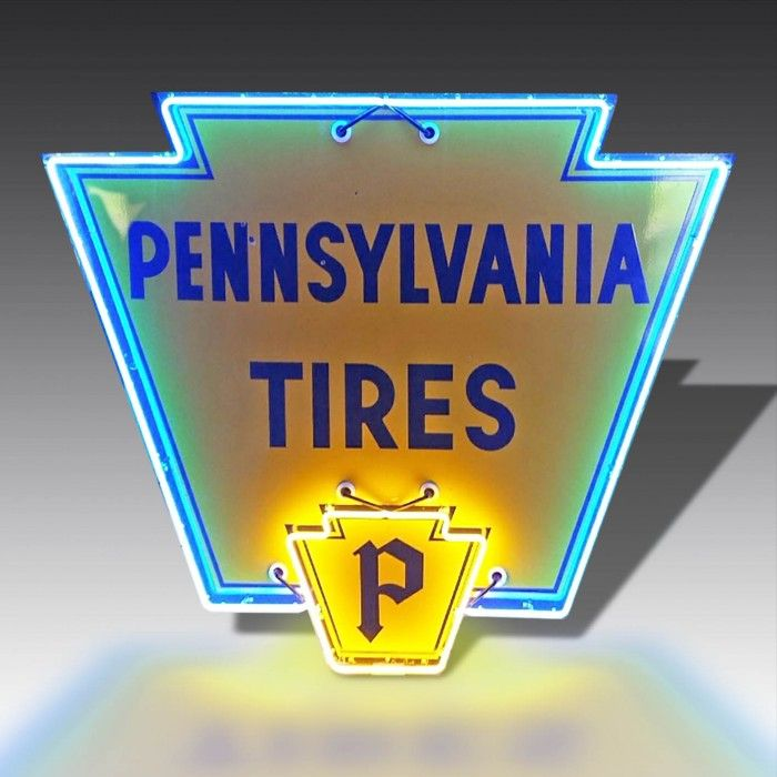 Vintage neon Pennsylvania Tires sign | The Games Room Company